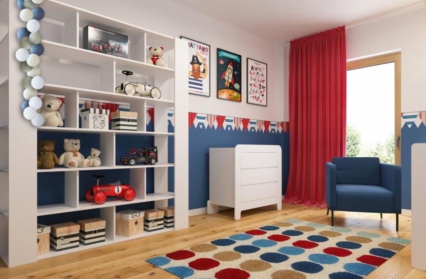 pokoj dziecka - projekty wnetrz wykonane przez APP Proste Wnetrze Krakow